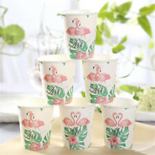 Romantic Tropical Flamingo Paper Disposable Cups Birthday Party Tableware Decor.