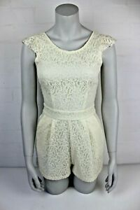 LIPSY LONDON Women's size 8 UK cream lace playsuit romper VGC
