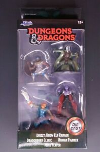 Jada Dungeons & Dragons Nanofigs Collectibles Toy Figures - Set of 4