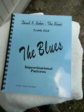 DAVID BAKER - THE BLUES.  treble clef  Book