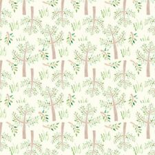 Fabric Baby Bedtime Trees & Grass on Cream Flannel 1/4 Yard