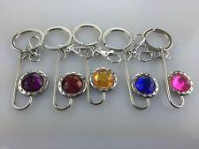 Wholesale Job Lot 12 x Fancy Key Holders KeyChain Keyrings Mixed Colours NEW