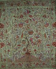 """Tree of Life Tapestry Cotton Bedspread 108"""" x 108"""" Queen-King Green"""