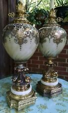 Hollywood Regency Gold Gilt Bubble Table Lamps Mid Century Movie Prop Koi Fish