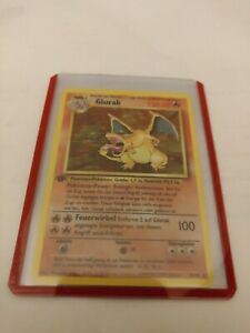 Pokemon Karte Glurak Charizard 1st Edition deutsch Proxy