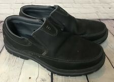 Mens Skechers Slip On Memory Foam Black Loafers Leather Shoes Sz 13 GREAT DEAL