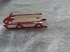 Town Square Miniatures Miniature Dollhouse  Sled Metal/wood 1 /12