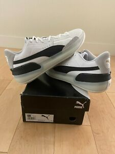 Puma Clyde Hardwood Basketball Shoes - Black/White - Men's 10.5 - NEW IN BOX