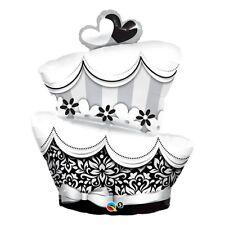Party Supplies Wedding Engagement Black & White Fabulous Cake Shape Foil Balloon