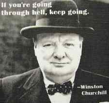 WINSTON CHURCHILL QUOTE - Printed Patch - Sew On - Vest, Bag, Backpack, Jacket