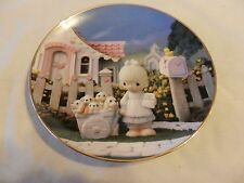God Loveth A Cheerful Giver Precious Moments Collector Plate Sam Butcher (H1)