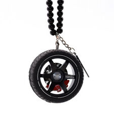 Alloy Ornaments Car Rear View Mirror Hanging Automobile Wheels Perfume Pendant