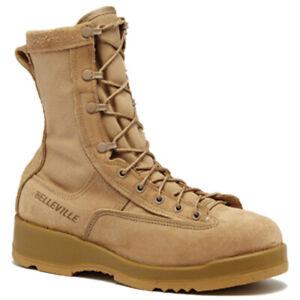 New Belleville Tan Combat Boots 790G Waterproof Infantry Military Overstock 13XW