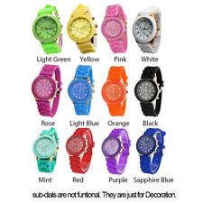 Mens Womens Analog Quartz Wrist Watch Stylish Silicone Jelly Gel Band Watches