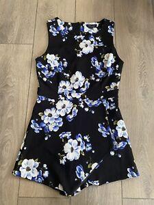 Ladies New Look Pretty Floral Jumpsuit Size 10