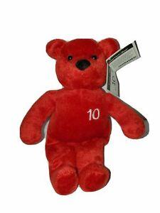"Nutrisystem 10lb Weight Loss NutriBear 9"" Red Teddy Bear Bean Plush"
