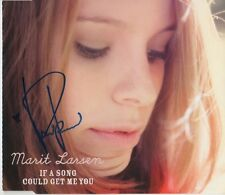 """Marit Larsen Autogramm signed CD-Cover """"If A Song Could Get Me You"""""""