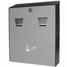 Powder Coated Outside Wall Mounted Ashtray Cigarette Bin Stainless Steel UK