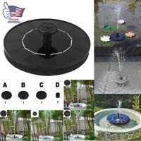 Solar Powered Floating Bird Bath Water Panel Fountain Pump Garden Pond Pool LED