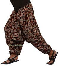 INDIAN BAGGY GYPSY HAREM PANTS YOGA MEN WOMEN COTTON SPIRAL PRINT TROUSERS MY