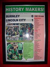 Burnley 0 Lincoln City 1 - 2017 FA Cup - framed print