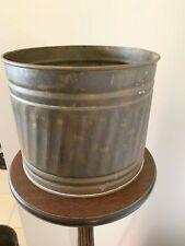 Vintage Brass Planter Hand Hammered Pillar Style
