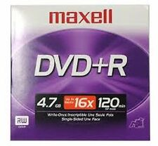 ($0 P&H) Maxell Branded DVD+R 4.7GB Maxell MQ 5 Disc Jewel Pack 16X (Clearance)