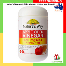 Nature's Way Apple Cider Vinegar 1200mg Max Strength 90 Tablets The Mother