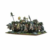Mantic Kings of War 10 Orc gore rider regiment (unboxed WHFB riders boar boys)