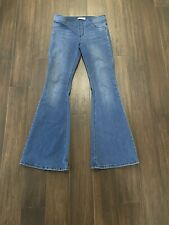 Free People Womens Penny Pull-On Flare Jeans Authentic Blue, Size 29