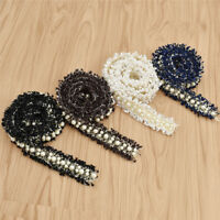 Schwarz Weiß Borte Nähen Verzierung Perlenbesetzt Quastenborte 1 Yard Deko DIY