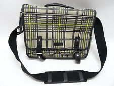 AUTHENTIC BODHI MESSENGER BAG/LAPTOP BAG - IN BLACK, YELLOW PLAID - EUC