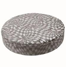 wg05r Gray Geometric Check 3D Round Box Shape Sofa Seat Cushion COVER*Cust-Size