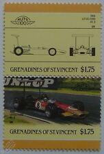 1968 LOTUS FORD 49-b GP voiture timbres (les dirigeants du monde / auto 100)
