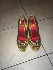 Circus By Sam Edelman Blake Platform Pump Metallic Gold Heels Size 6