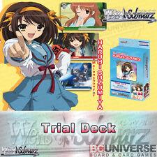 The Melancholy of Haruhi Suzumiya (English) Weiss Schwarz Trial Deck