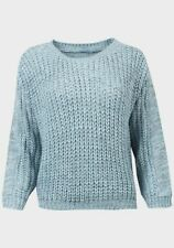 Wholesale Joblot Ladies Blue Chunky Knit Jumper BNWOT