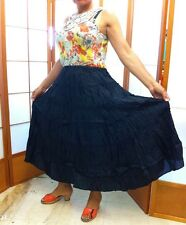 new 100%  S M L XL SILK RED BLUE BLACK Skirt shiny sheer crinkle ladies dance