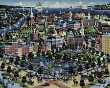 "Jigsaw puzzle Explore America Boston Massachusetts NEW 500 piece Made US 20""x16"""