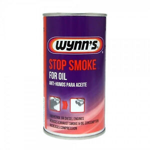 Car Exhaust Stop Smoke Reducer By Wynns Add To Engine Oil Petrol & Diesel 325ml
