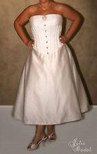 "NWT Size 18 Jalis Bridal ""Fiona"" Ivory tea length tulle corset Rockabilly bridal"