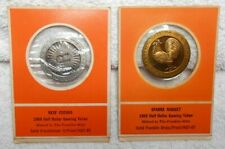 2 Franklin Mint Tokens REEF CASINO...SPARKS NUGGET Half Dollar First Edition