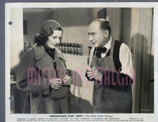 Vintage Photo 1937 Barbara Stanwyck Breakfast for Two Eric Blore