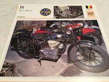 Carte moto FN 500 M11 1937 collection Atlas Motorcycle Belgique