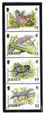 GB - JERSEY SC 1137-37a NH BLOCK-STRIP-MINISHEET of 2004 - WWF - ANIMALS - BIRDS