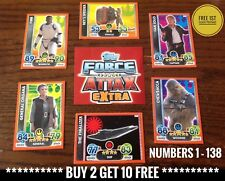 Numbers 1 - 138 -  Star Wars FORCE ATTAX EXTRA Cards, Buy 2 Get Upto 10 Free.
