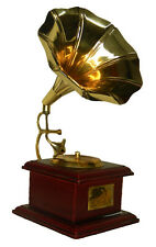 Gramophone Shape Antique Vintage Finish Handcrafted Brass Table Decor Showpiece