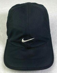 Nike Black Featherlight Dri Fit Baseball Cap Strapback Running CI2662-010