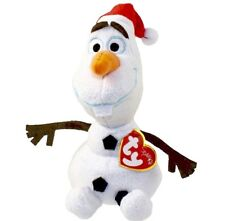 New Disney OLAF Frozen Movie TY Beanie Baby Snowman Sparkle MINT Christmas Hat N