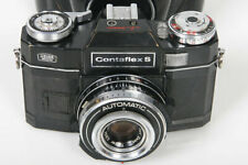 Zeiss Contaflex S black vintage camera 50mm f2.8 Tessar lens, As-is for display